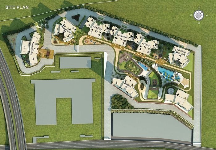 Site Plan of Amelia at Emerald Isle Powai by L&T